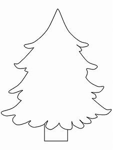 Christmas Tree Outline - Coloring Home