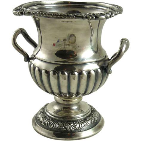 Silver Plated Vase by Vintage Silver Plated Urn Vase Barker Brothers Birmingham