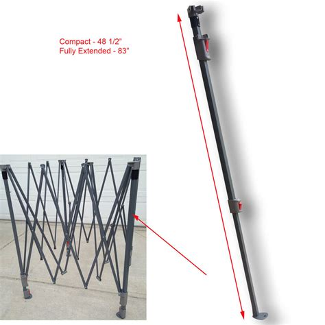 coleman    canopy gazebo extended adjustable leg wslider cap replacement ebay