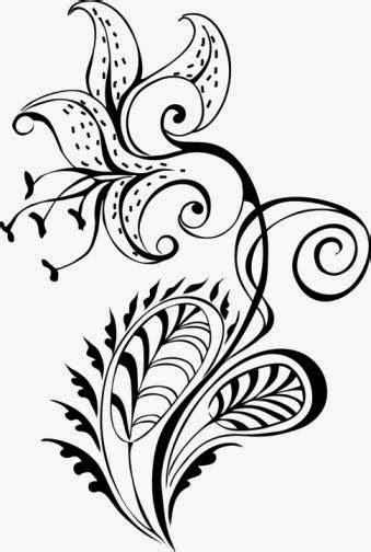 tiger-lily-tattoo-stencil-2.jpg (339×504) | Tiger lily tattoos, Lily tattoo