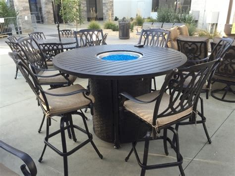 bar height patio table with fire pit bar height fire pit table set fire pit ideas