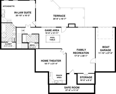 2 house plans with basement house floor with basement and house the meadow