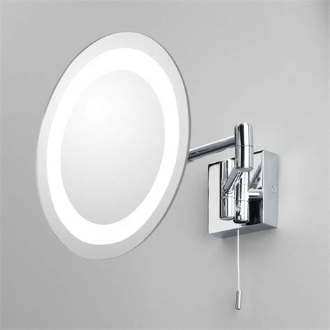 Bathroom Magnifying Mirror With Light by Astro Lighting 0356 Genova Illuminated Bathroom Ip44