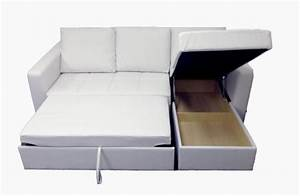 Modern white sectional sofa with storage chaise couch for Sectional sleeper sofa with storage and pillows