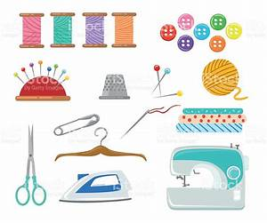 Sewing Tools And Equipment Needle Machine Pin Yarn Stock ...