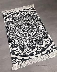 Läufer Schwarz Weiß : l ufer mandala muster boho boheme baumwolle schwarz wei teppich neu 60x90 cm ebay rote ~ Orissabook.com Haus und Dekorationen