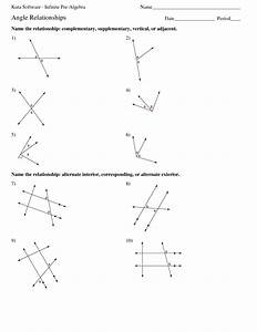 Alt Interior Angle Worksheets