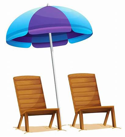 Transparent Beach Chair Clipart Chairs Umbrella Background