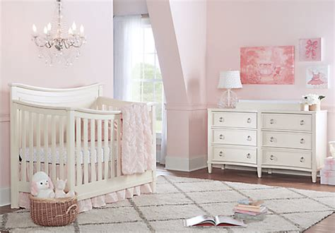 jaclyn place ivory  white  pc nursery crib