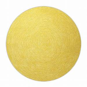 tapis rond moderne jaune esprit home colour in motion 200x200 With tapis rond jaune