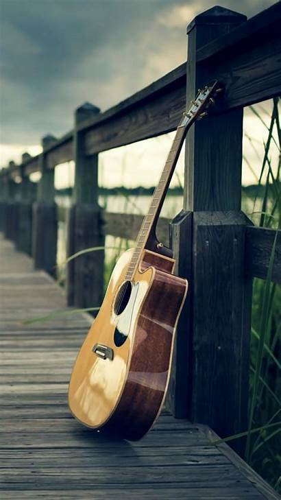 Guitar Acoustic Wallpapers Playing Background Uploaded User