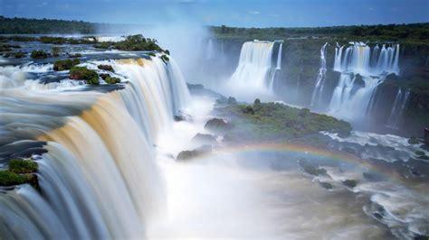Hd Anime Scenery Wallpapers Wallpaper Iguazu Falls Waterfalls Argentina 4k Nature 5447