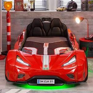 Lit Enfant Voiture : lit voiture enfant gti rouge led ~ Preciouscoupons.com Idées de Décoration