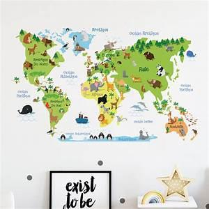 Carte Du Monde Sticker : sticker carte du monde enfants stickers stickers enfants carte du monde ambiance sticker ~ Dode.kayakingforconservation.com Idées de Décoration