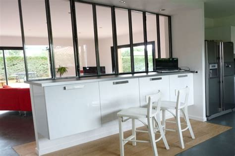 verri鑽e industrielle cuisine cloisonnement avec verrière intégrée on cuisine atelier and salons