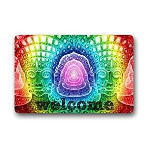 Colorful Outdoor Doormats by Modern Colorful Rainbow Welcome