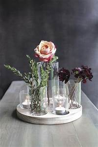 Center Table Design With Glass Wedding Flower Centerpiece