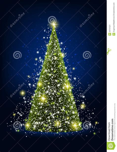 shiny christmas tree stock image image 33761521