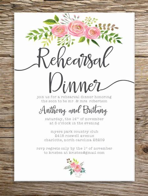 Rehearsal Dinner Invitation Template Free Awesome Dinner