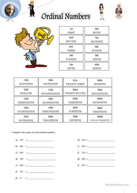 ordinal numbers worksheet free esl printable worksheets made by teachers