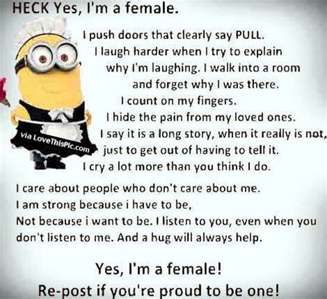 heck    female minion quote pictures