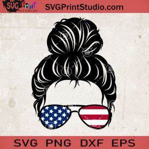 Maybe you would like to learn more about one of these? Messy Bun Svg America Flag SVG, Momlife SVG, Happy Mother ...