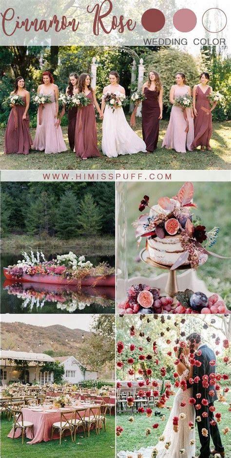 cinnamon rose dusty rose wedding color ideas #wedding #