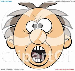 Royalty-Free (RF) Clipart Illustration of a Screaming Mad ...