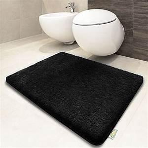 tapis de bain noir certifie oeko tex 100 et lavable With tapis de bain tres epais