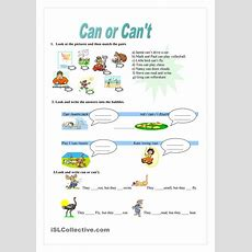 Can Or Can't  Worksheet  Kindergarten Level  Learn English For Kids  Pinterest Cas