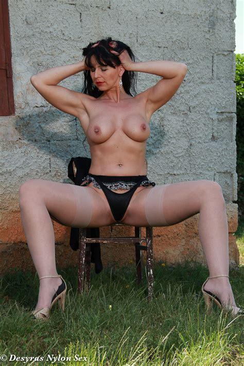 hot milf Wanks In Her Seamed Stockings In Public Fine milfs