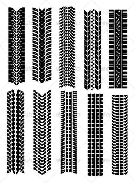 Tire Stenciel Template by Set Of Tire Shapes Vector Design Vector Graphics And