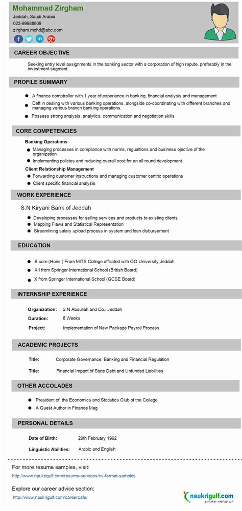 Resume For Banking Sector by 11 Sle Resume Format For Banking Sector