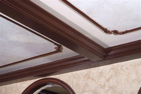 Oak Crown Molding by Oak Coffered Ceiling With B308 3 4 Quot X 6 1 4 Quot Oak