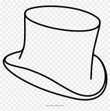 Sombrero Colorear Dibujo Coloring Dibujos Ultra Sombreros Copa Pngfind sketch template