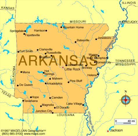 arkansas map infoplease