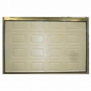 Porte de garage sectionnelle avec porte pvc bricoman for Porte de garage sectionnelle avec porte pvc bricoman
