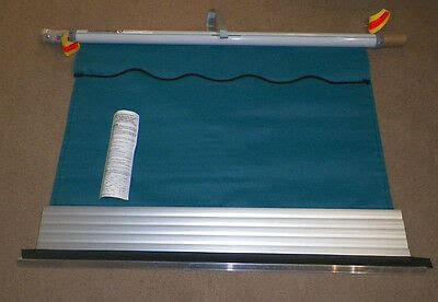 dometic elite window awning teal solid silver  fabric