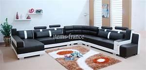 Canapé Panoramique 7 Places : canape panoramique cuir salon livida canape cuir 7 places 375x337x180 ~ Teatrodelosmanantiales.com Idées de Décoration