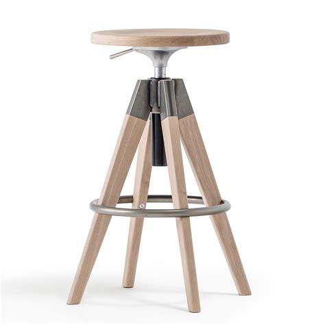 bar stool industrial arki stool hocker pedrali aus holz und metall drehbar