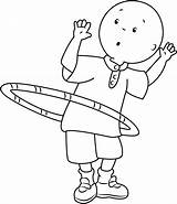 Caillou Coloring Hula Hoop Playing Pages Ring Printable Cartoon Categories Coloringpages101 sketch template