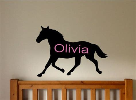 horse wall decal personalized wall decals horse room decor horse nursery children 39 s wall