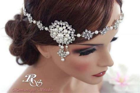 Crystal Wedding Headband Bridal Headband Vintage Art Deco