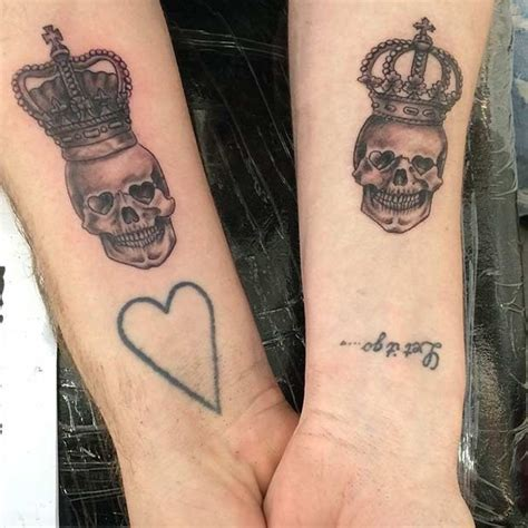 king  queen tattoos  couples page    stayglam
