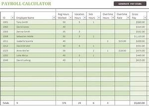 Vacation Budget Spreadsheet Template 3 Free Excel Payroll Templates