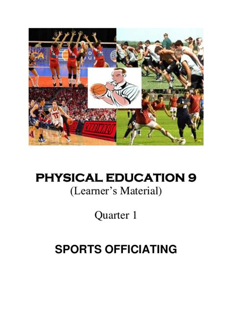 Physical Education (pe) Grade 9 Module (1st  4th Quarter