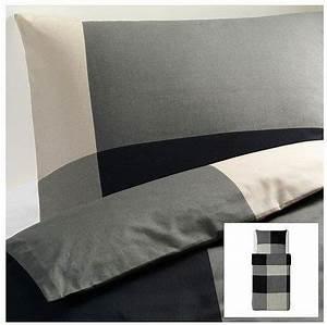 Ikea Bettwäsche 220x240 : sch ne bettw sche aus baumwolle schwarz von ikea bettw sche ~ Watch28wear.com Haus und Dekorationen