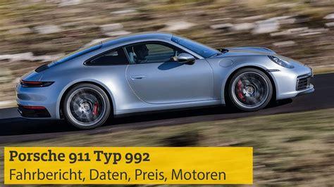 Porsche 911 Typ 992 2019 Fahrbericht Daten Preis