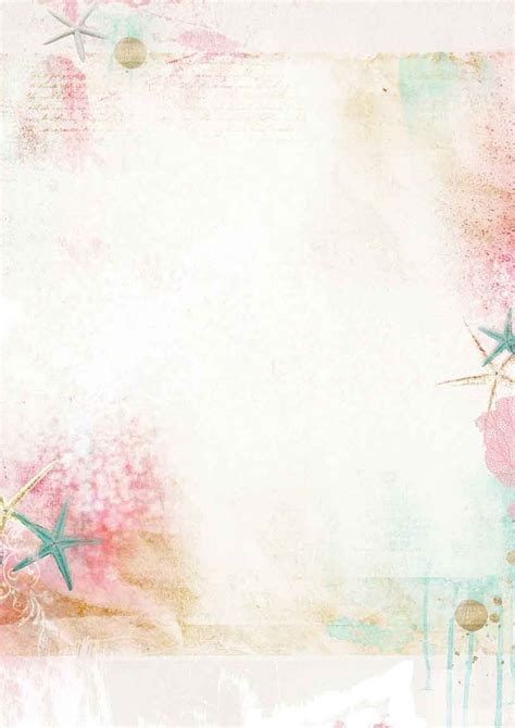 Romantic Summer Background Paper Double Printed A4