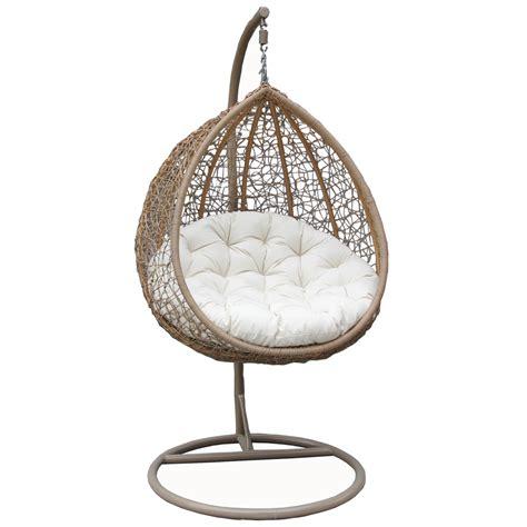bentley garden wicker rattan patio hanging swing chair